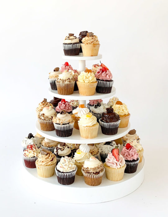 Assorted Cupcake Tower