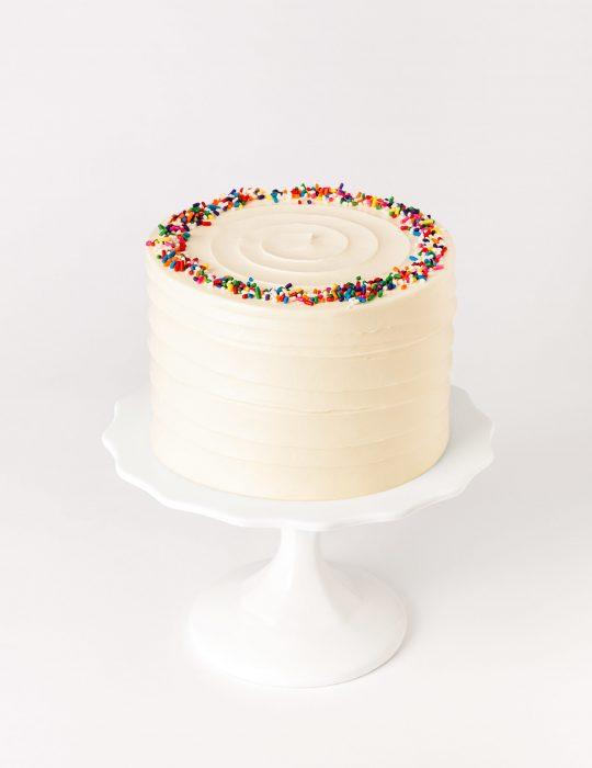Classic Vanilla Sprinkle Cake