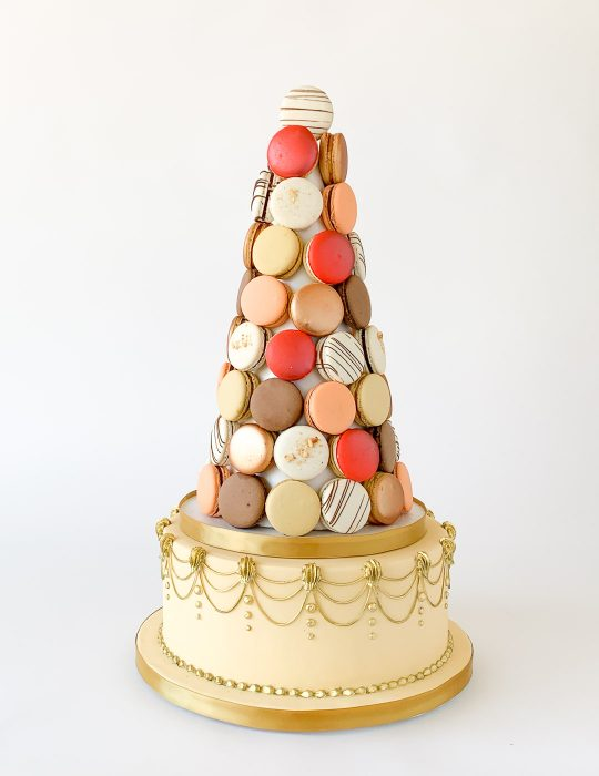 Fall Favourites Macaron Tower (with Cake Base)