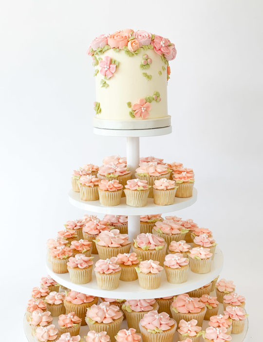 Garden in Bloom Cupcake Tower