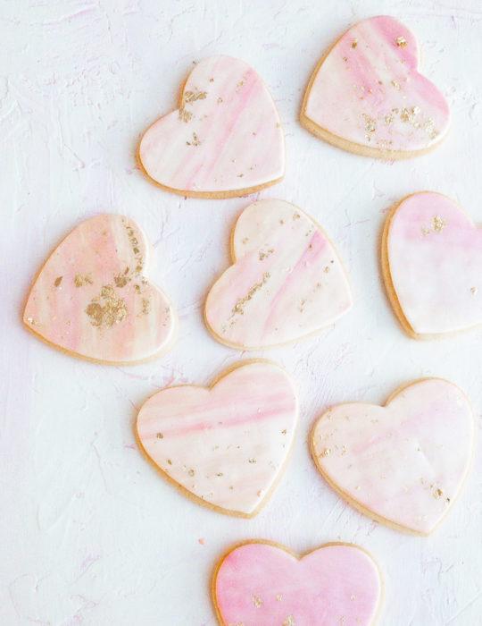 Watercolour Heart Sugar cookie