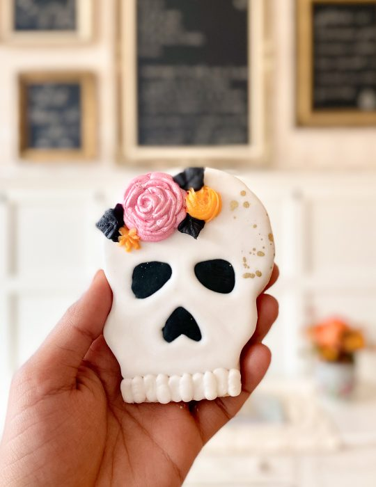 Decorative Packaged Skull Cookie